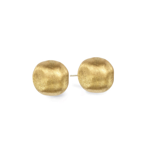 Africa 18K Yellow Gold Large Stud Earrings