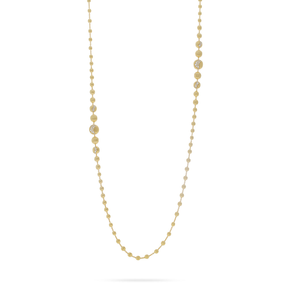 Africa Constellation 18K Yellow Gold and Diamond Long Degrade Necklace