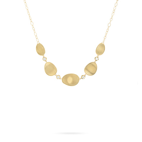 Lunaria 18K Yellow Gold and Diamond Necklace
