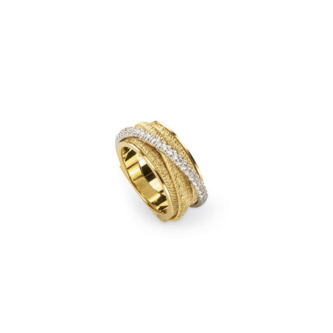 Cairo 18K Yellow Gold and Diamond Five Strand Ring