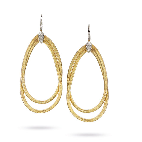 Cairo 18K Yellow Gold and Diamond Large Drop Earrings