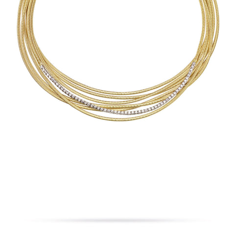 Cairo 18K Yellow Gold and Diamond (1.14 CT) Seven Strand Necklace
