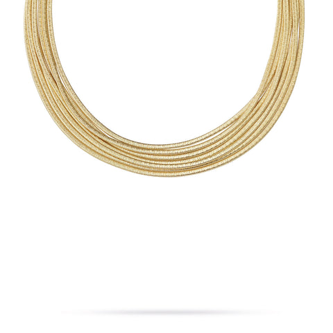 Cairo 18K Yellow Gold Seven Strand Necklace