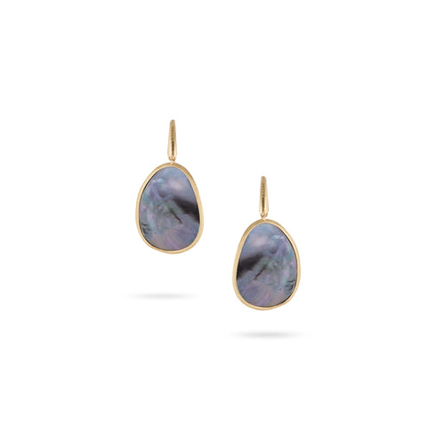 Lunaria 18K Yellow Gold Black Mother of Pearl Drop Earrings