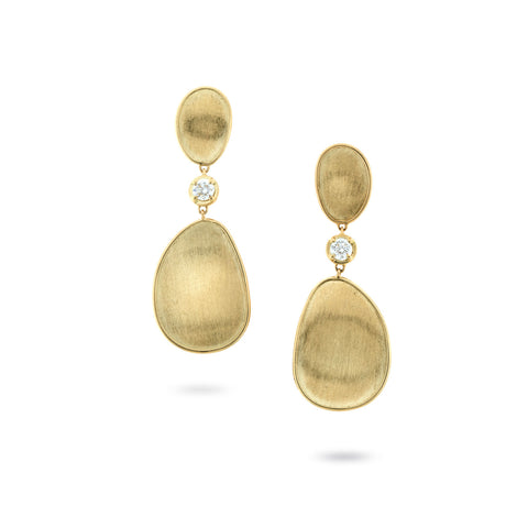 Lunaria 18K Yellow Gold and Diamond Large Drop Earrings
