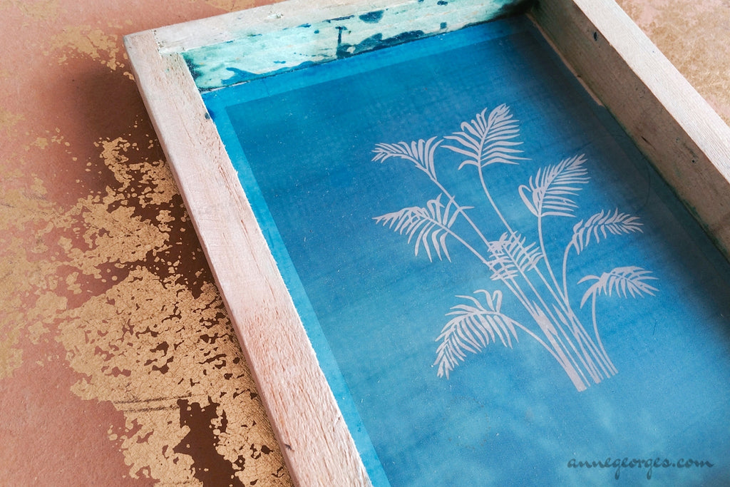 Pre-made Silk Screen for easy use. Screen Print, Fabric Print Tool. Print on fabric and paper. Leaves 01