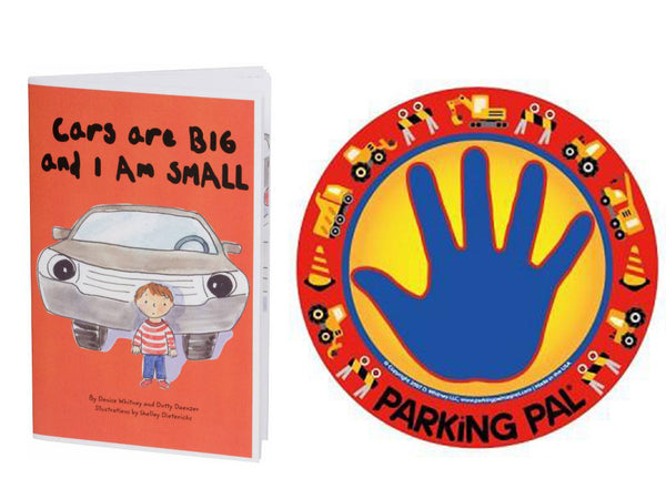 Cars are big and I am small safety book for parking lot safety around vehicles with construction trucks parking pal hand print magnet