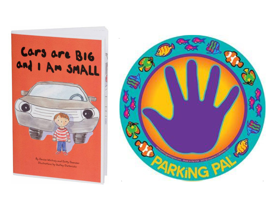 Purple blue Fish nemo parking pal hand print car magnet with toddler safety around cars book