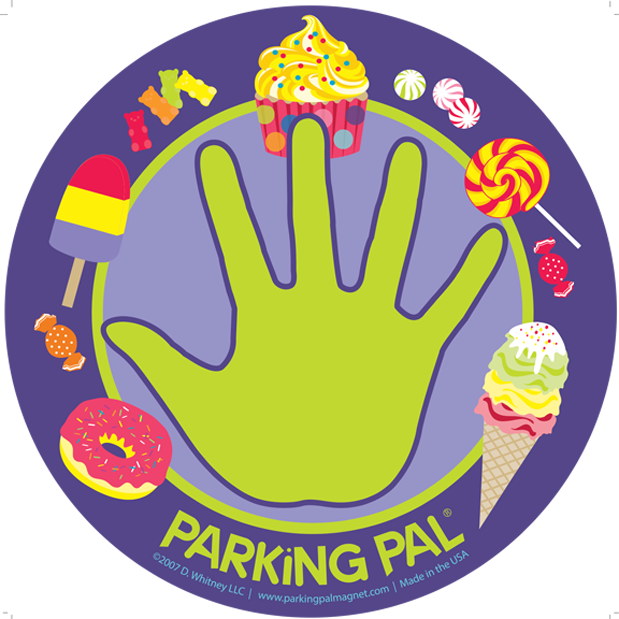 purple cupcake ice cream donut candy parking pal hand print car safety magnet