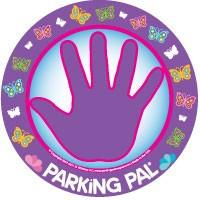 butterfly hand print decal magnet for parking lot safety