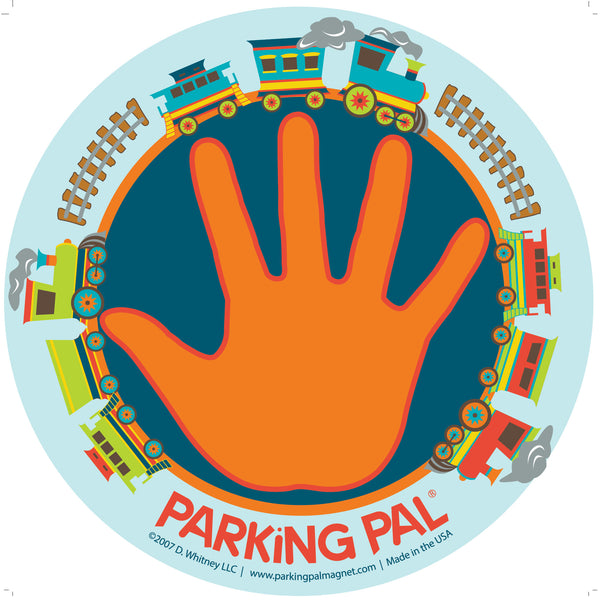 Thomas the train blue orange parking lot hand magnet safety around vehicles