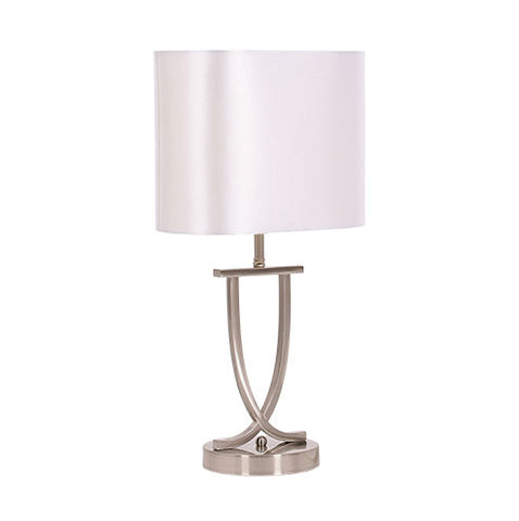 Bright Star Twist Table Lamp Pearl White