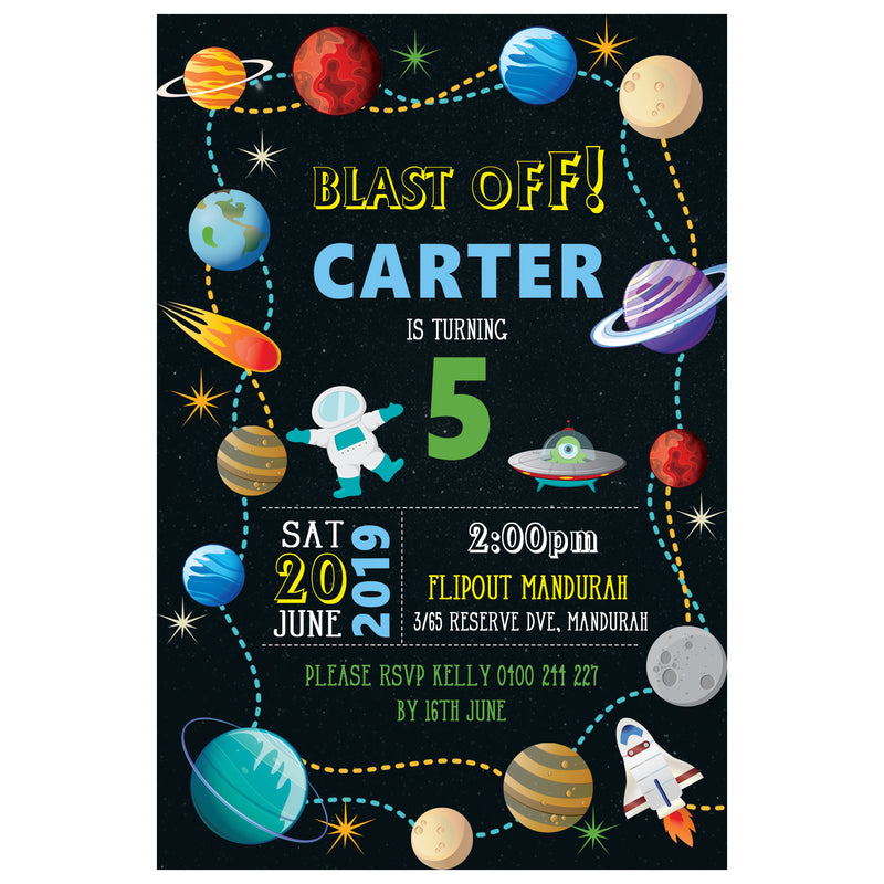 Carter - Outer Space Birthday Invitation