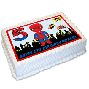Spiderman Rectangle Edible Cake Topper