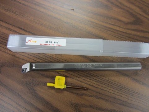 "3/4"" Indexable Boring Bar,S-SCLCR12-3,3/4""x10"" OAL w.CCMT Insert,1004-IDX34"