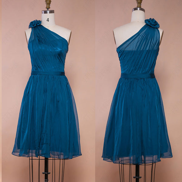 Teal bridesmaid dresses knee length homecoming dresses