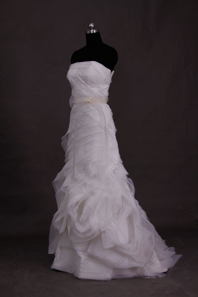 Mermaid strapless swirl wedding dresses