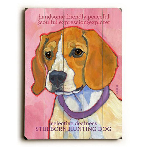 Stubborn Hunting Dog Wood Wall Decor by Ursula Dodge