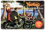 Norton Classic British Motorcycle Sign