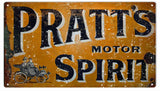 Vintage Pratts Motor Spirit Sign 8x14