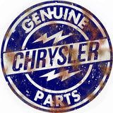 Vintage Chrysler Parts Sign 18 Round