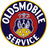 Oldsmobile Service Sign 14 Round