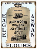 Vintage Eagle And Swan Flour Sign 9x12
