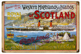 Vintage Columba Iona Cruise Ship Sign