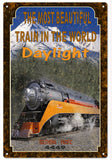 Vintage Southern Pacific Daylight Railroad Sign