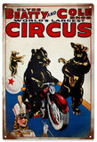 Vintage Clyde Beatty Circus Sign