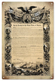 Vintage Proclamation Emancipation Sign
