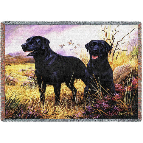 Labrador Retriever Black Blanket