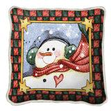 Dancing Snowman Pillow