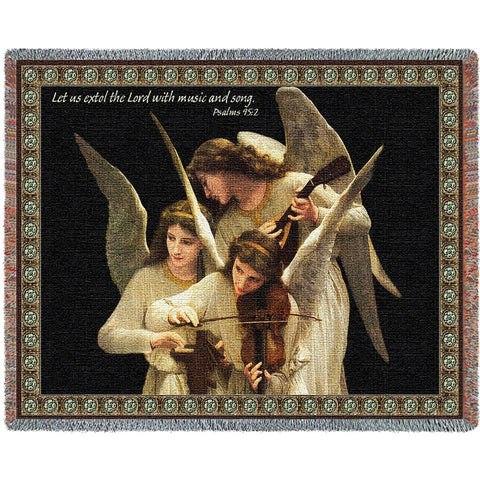 Angels Playing Violin Blanket