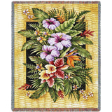 Tropical Flowers Blanket