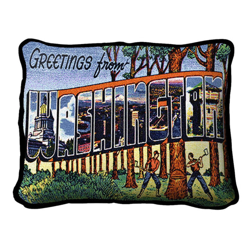 Greetings From Washington Pillow