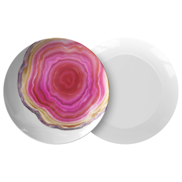 Fuchsia Pink Agate Dinner Plate