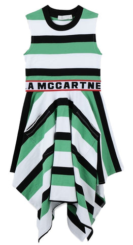 Stella McCartney Sleeveless Striped Logo Dress
