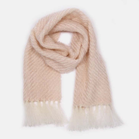 Pink Handwoven Mohair Scarf