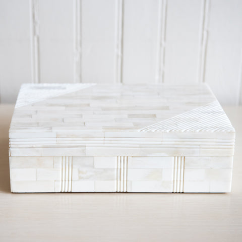 Faux Ivory Storage Box