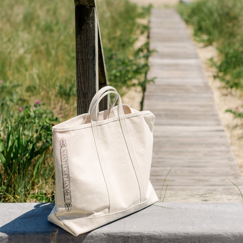 Nantucket Looms Boat Tote-Natural Canvas