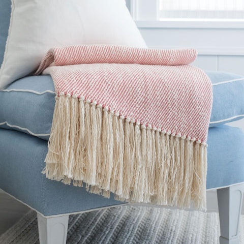 'Sconset Rose Handwoven Cotton Throw