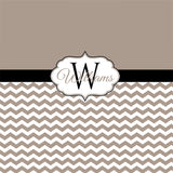 Chevron Bedding Comforter or Duvet in YOUR CHOICE of colors Personalized Name & Monogram!
