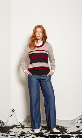 Twister Top - Oxford Stripe