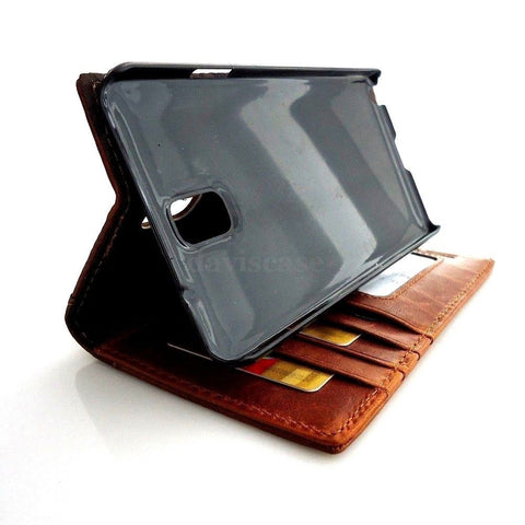 genuine real leather Case for Samsung Galaxy Note 3 book wallet handmade stylish TA