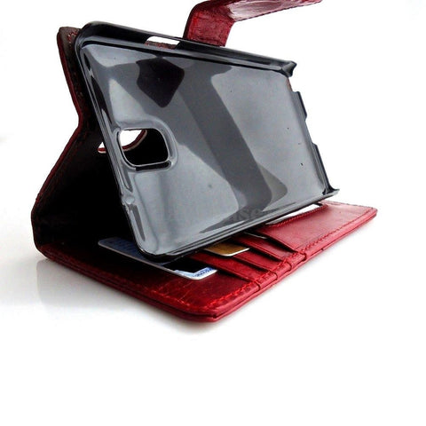 genuine natural leather Case FOR Samsung Galaxy Note 3 book wallet r wine slim G