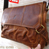 REAL Leather case Bag Messenger iPad LAPTOP Genuine 2 1 tablet cover vintage new