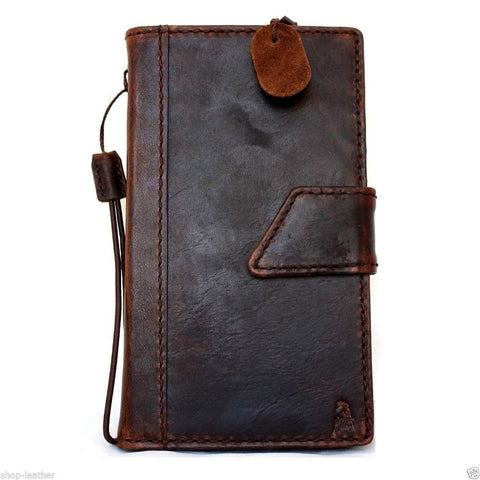 genuine vintage leather Case For Samsung Galaxy Note 3 book wallet magnet cover slim handmade brown art daviscase