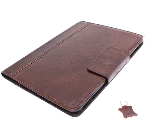 Genuine full Leather case Bag for apple iPad 9.7 2017\2018 hard cover luxury rubber magnetic brown cards slots slim daviscase luxury A1822 A1823 A1893 A1954