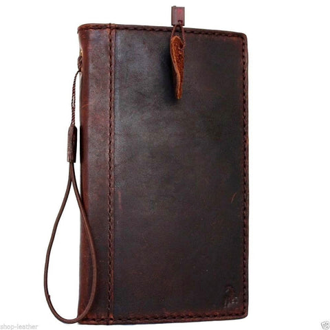 genuine vintage leather Case For Samsung Galaxy Note 3 book wallet slim cover handmade brown thin daviscase